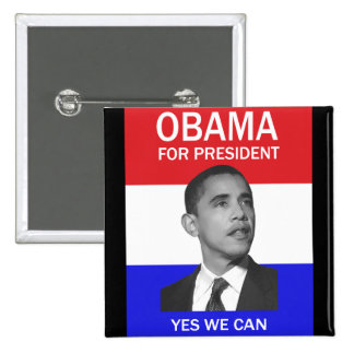 obama yes we can button