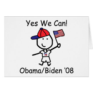 Obama - Yes We Can! Card