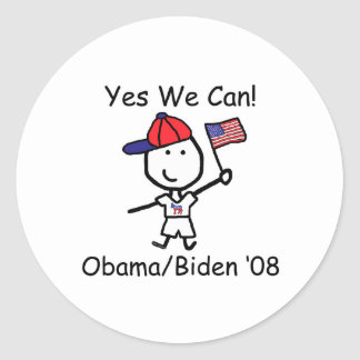 Obama - Yes We Can! Classic Round Sticker