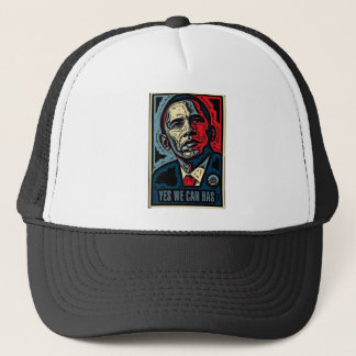 Obama Yes We Can, Has Trucker Hat