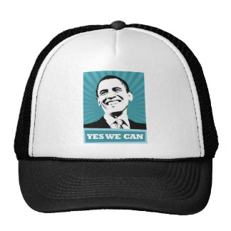 Obama-Yes We Can Trucker Hat