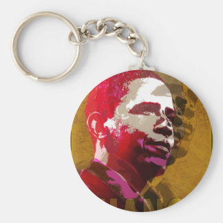 Obama - Yes We Can Basic Round Button Keychain