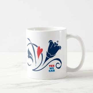 Obama - Yes We Can, Love Blossoms Mug, classic Classic White Coffee Mug