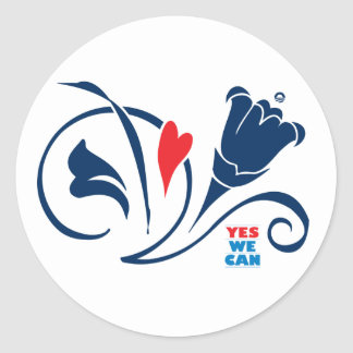 Obama - Yes We Can, Love Blossoms Stickers