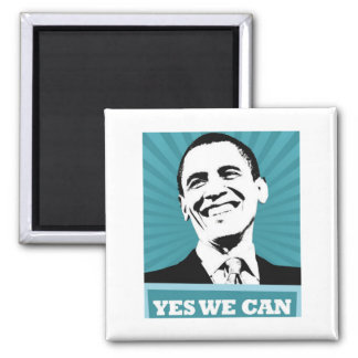 Obama-Yes We Can 2 Inch Square Magnet