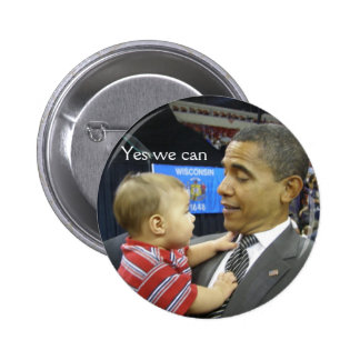 OBAMA Yes we can Pinback Button