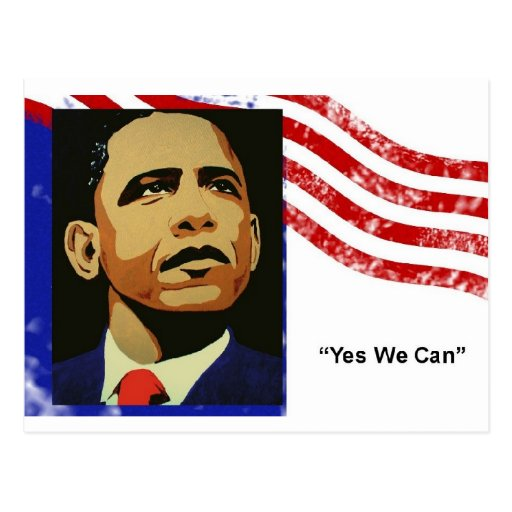 Obama yes we can postcard postcard zazzle for Bett yes we can