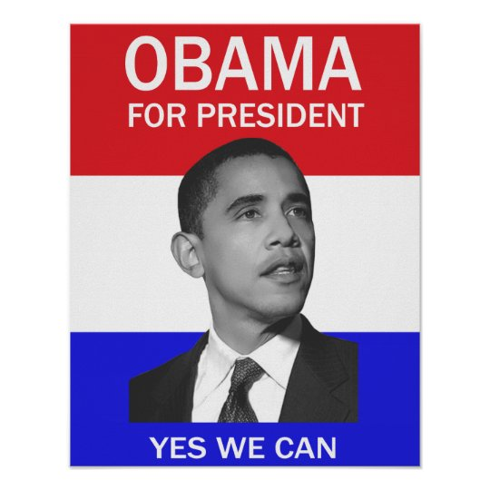 Obama yes we can poster zazzle for Bett yes we can