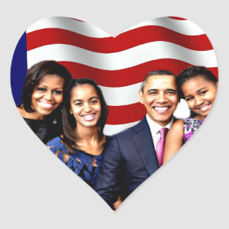 Obama,Yes We Can_ Heart Sticker