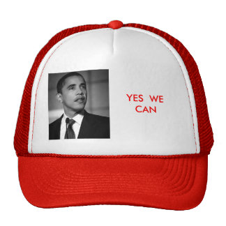 obama, YES  WE CAN Trucker Hat