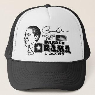 Obama Yes We Did 2009 Gear Trucker Hat