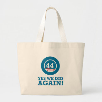 Obama - Yes We Did AGAIN Tote Bags
