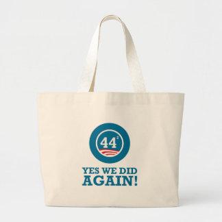 Obama - Yes We Did AGAIN Jumbo Tote Bag