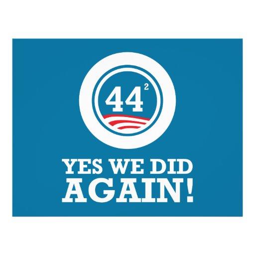 Obama - Yes We Did AGAIN Custom Flyer