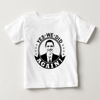 Obama Yes We Did Again V1 BW Shirt