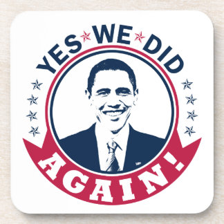 Obama Yes We Did Again V1 Color Coasters