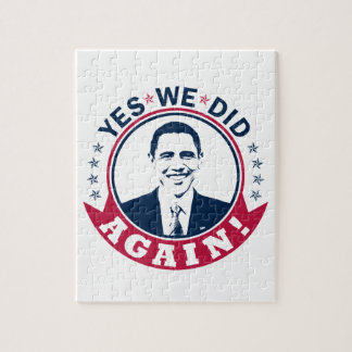 Obama Yes We Did Again V1 Color Jigsaw Puzzle