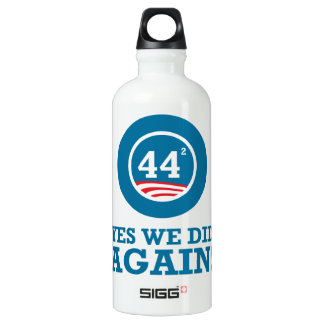 Obama - Yes We Did AGAIN Water Bottle