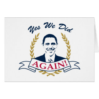 Obama Yes We Did It Again V2 Color Card