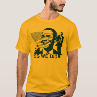 Obama Yes We Did Long Sleeve T-Shirt