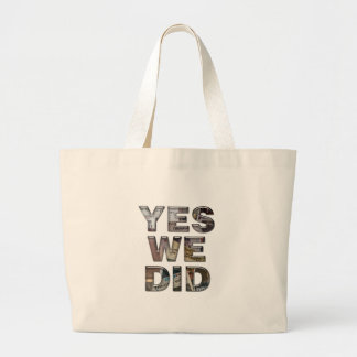 Obama: Yes We Did Newspaper Collage Bags
