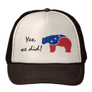Obama Yes We Did Polar Bear Retro Trucker Hat