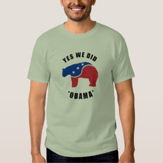 Obama Yes We Did Polar Bear T-Shirt