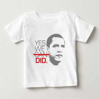 "Obama ""Yes we did."" Shirt"