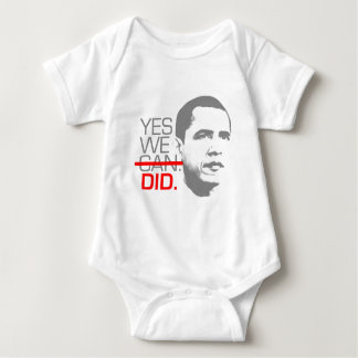 """Obama """"Yes we did."""" T-shirt"""