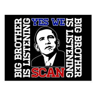 Obama Yes We Scan Postcard