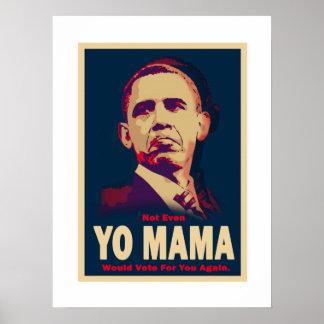 Obama Yo Mama Poster