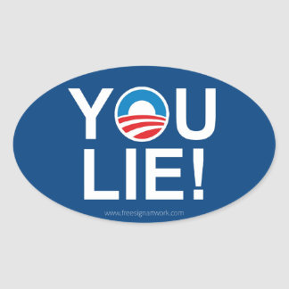 Obama You Lie -- Antiobama Oval Stickers