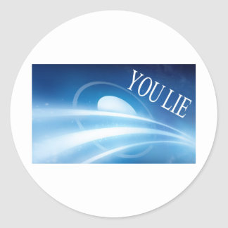 Obama you lie classic round sticker