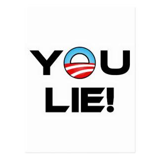Obama You Lie Postcard