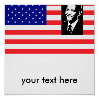 obama, your text here poster