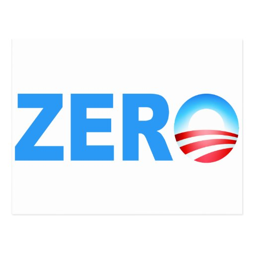 Obama Zero Accomplishments Postcard
