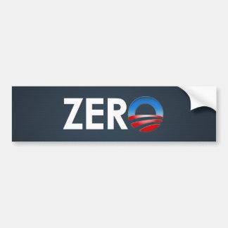 Obama Zero Car Bumper Sticker