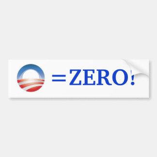 Obama=Zero! Bumper Sticker