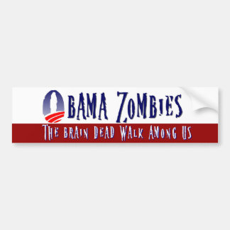 Obama Zombie Bumper Sticker Red