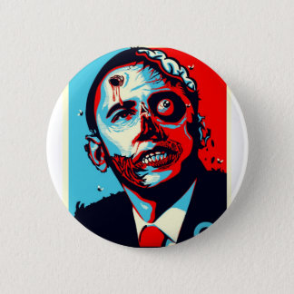 obama zombie pinback button