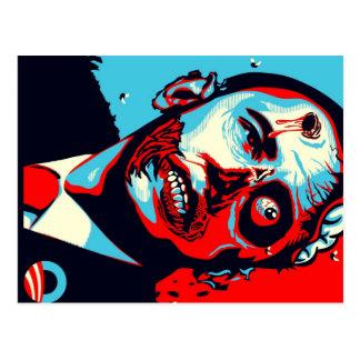 obama zombie post card