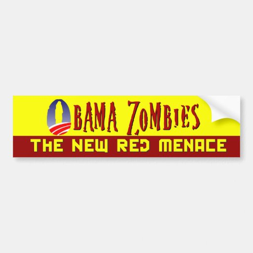 Obama Zombie Red Menace Bumper Stickers