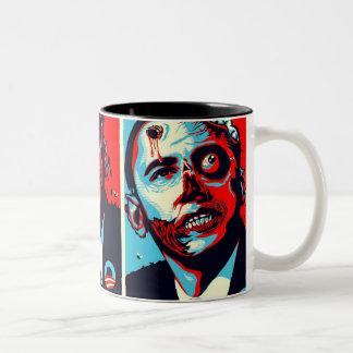 obama zombie Two-Tone coffee mug