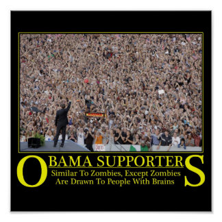 Obama Zombies Poster