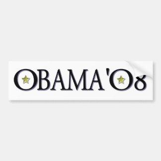 ObamaBlackandGoldonWhite Pegatina De Parachoque