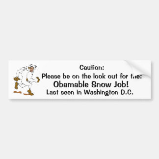 Obamable Snow Job Bumper Sticker