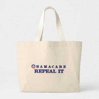 Obamacae Repeal It Large Tote Bag