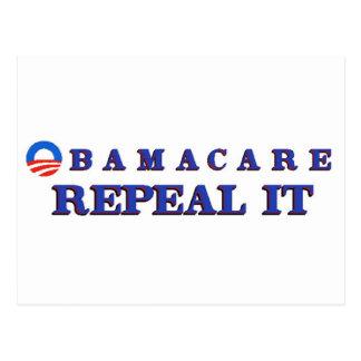 Obamacae Repeal It Postcard