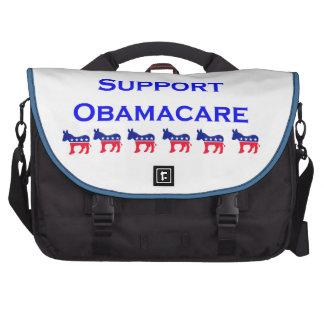 Obamacare 2 with donkey laptop messenger bag