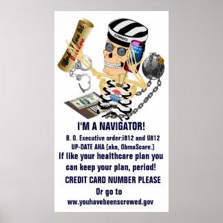 Obamacare AHA I'M A NAVIGATOR Poster